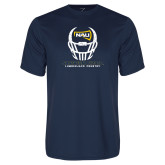 Performance Navy Tee-Football Helmet Design