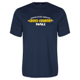 Performance Navy Tee-Cross Country Arrow Design