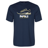 Performance Navy Tee-Cross Country Shoe Design