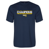 Syntrel Performance Navy Tee-Big Sky Conference Champions