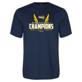 Performance Navy Tee-NCAA Division I Mens Cross Country Champions