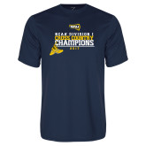 Performance Navy Tee-2017 NCAA Division I Mens Cross Country Champions