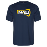 Performance Navy Tee-NAU Primary Mark