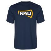 Syntrel Performance Navy Tee-NAU Primary Mark