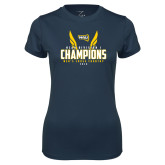 Ladies Syntrel Performance Navy Tee-NCAA Division I Mens Cross Country Champions