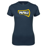 Ladies Syntrel Performance Navy Tee-NAU Lumberjacks