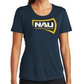 Ladies Syntrel Performance Navy Tee-NAU Lumberjacks