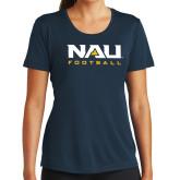 Ladies Syntrel Performance Navy Tee-Football
