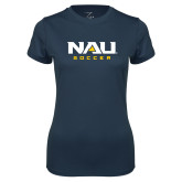 Ladies Syntrel Performance Navy Tee-Soccer