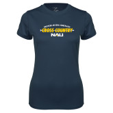 Ladies Syntrel Performance Navy Tee-Cross Country Arrow Design