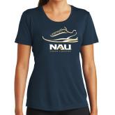 Ladies Syntrel Performance Navy Tee-Cross Country Shoe Design