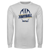 White Long Sleeve T Shirt-Football Design