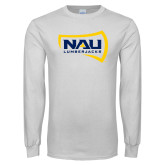 White Long Sleeve T Shirt-NAU Lumberjacks