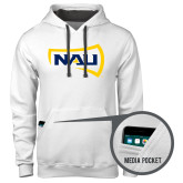 Contemporary Sofspun White Hoodie-NAU Primary Mark
