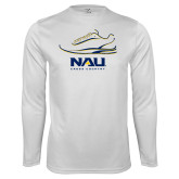 Performance White Longsleeve Shirt-Cross Country Shoe Design