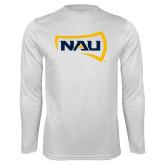 Syntrel Performance White Longsleeve Shirt-NAU Primary Mark