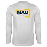 Syntrel Performance White Longsleeve Shirt-NAU Lumberjacks