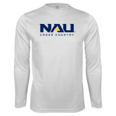 Performance White Longsleeve Shirt-Cross Country