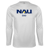 Performance White Longsleeve Shirt-Dad