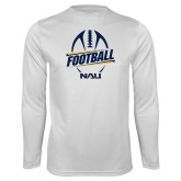 Performance White Longsleeve Shirt-Football Design