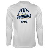 Syntrel Performance White Longsleeve Shirt-Football Design