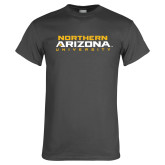 Charcoal T Shirt-Northern Arizona University Stacked