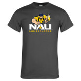 Charcoal T Shirt-NAU Lumberjacks with Louie
