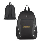 Atlas Black Computer Backpack-Northern Arizona University Stacked