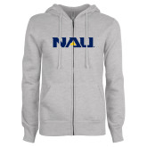 ENZA Ladies Grey Fleece Full Zip Hoodie-NAU
