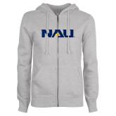 ENZA Ladies Grey Fleece Full Zip Hoodie-NAU