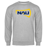 Grey Fleece Crew-NAU Primary Mark