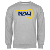 Grey Fleece Crew-NAU Lumberjacks
