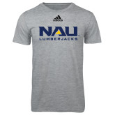 Adidas Sport Grey Logo T Shirt-NAU Lumberjacks Stacked