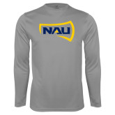 Performance Steel Longsleeve Shirt-NAU Primary Mark