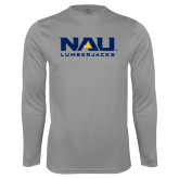 Performance Steel Longsleeve Shirt-NAU Lumberjacks Stacked
