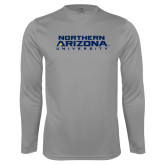 Performance Steel Longsleeve Shirt-Northern Arizona University Stacked