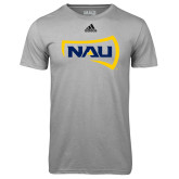 Adidas Climalite Sport Grey Ultimate Performance Tee-NAU Primary Mark