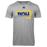 Adidas Climalite Sport Grey Ultimate Performance Tee-NAU Lumberjacks