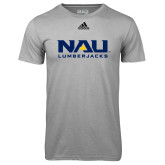 Adidas Climalite Sport Grey Ultimate Performance Tee-NAU Lumberjacks Stacked