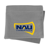 Grey Sweatshirt Blanket-NAU Lumberjacks