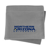 Grey Sweatshirt Blanket-Northern Arizona University Stacked