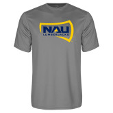 Performance Grey Concrete Tee-NAU Lumberjacks