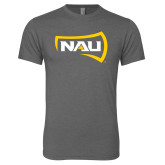 Next Level Premium Heather Tri Blend Crew-NAU Primary Mark