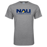 Grey T Shirt-NAU Lumberjacks Stacked