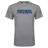 Grey T Shirt-Northern Arizona University Stacked