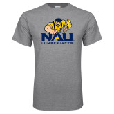 Grey T Shirt-NAU Lumberjacks with Louie