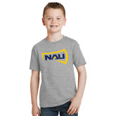 Youth Grey T-Shirt-NAU Primary Mark