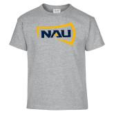 Youth Grey T-Shirt-NAU Primary Mark
