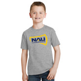 Youth Grey T-Shirt-NAU Lumberjacks