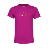 Youth Cyber Pink T Shirt-NAU Primary Mark Foil